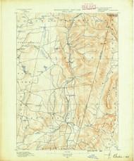 Berlin, MA 1890 (1890) USGS Old Topo Map 15x15 NY Quad