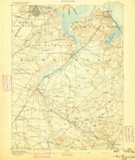 New Brunswick, NJ 1893 (1893) USGS Old Topo Map 15x15 NY Quad