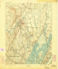 Paterson, NJ 1888 (1888) USGS Old Topo Map 15x15 NY Quad