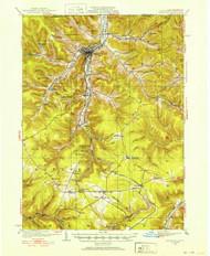 Bradford, PA 1924 (1924) USGS Old Topo Map 15x15 NY Quad