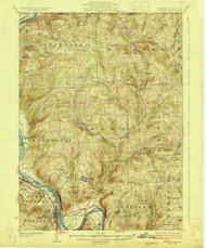 Towanda, PA 1926 (1926) USGS Old Topo Map 15x15 NY Quad