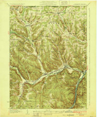 Youngsville, PA 1929 (1929) USGS Old Topo Map 15x15 NY Quad