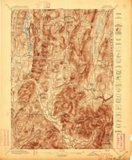 Pawlet, VT 1897 (1897) USGS Old Topo Map 15x15 NY Quad