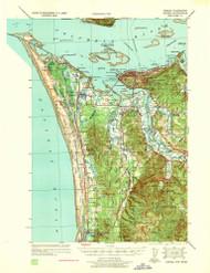 Astoria, Oregon 1939 (1939) USGS Old Topo Map 15x15 OR Quad