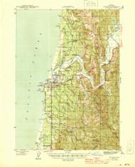 Bandon, Oregon 1944 (1944) USGS Old Topo Map 15x15 OR Quad