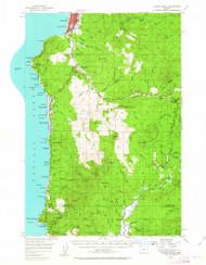 Cannon Beach, Oregon 1955 (1963) USGS Old Topo Map 15x15 OR Quad