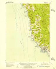 Cape Ferrelo, Oregon 1954 (1956) USGS Old Topo Map 15x15 OR Quad