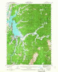 Coos Bay, Oregon 1942 (1967) USGS Old Topo Map 15x15 OR Quad