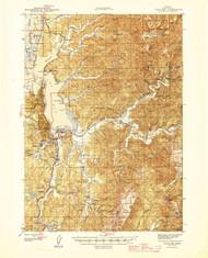 Coos Bay, Oregon 1945 (1945) USGS Old Topo Map 15x15 OR Quad