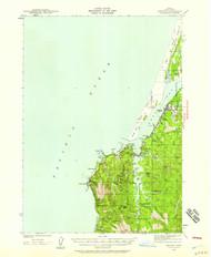 Empire, Oregon 1942 (1958) USGS Old Topo Map 15x15 OR Quad