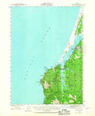 Empire, Oregon 1942 (1967) USGS Old Topo Map 15x15 OR Quad