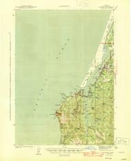 Empire, Oregon 1944 (1944) USGS Old Topo Map 15x15 OR Quad
