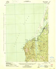Empire, Oregon 1944 (1944a) USGS Old Topo Map 15x15 OR Quad