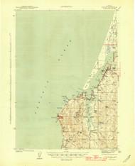 Empire, Oregon 1944 (1944b) USGS Old Topo Map 15x15 OR Quad