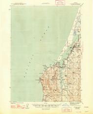 Empire, Oregon 1944 (1948) USGS Old Topo Map 15x15 OR Quad