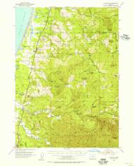 Langlois, Oregon 1954 (1956) USGS Old Topo Map 15x15 OR Quad