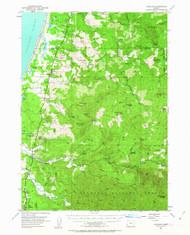 Langlois, Oregon 1954 (1963) USGS Old Topo Map 15x15 OR Quad