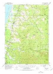 Langlois, Oregon 1954 (1978) USGS Old Topo Map 15x15 OR Quad
