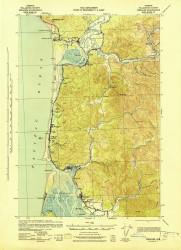 Nehalem, Oregon 1943 (1943) USGS Old Topo Map 15x15 OR Quad
