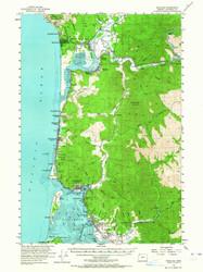 Nehalem, Oregon 1955 (1964) USGS Old Topo Map 15x15 OR Quad