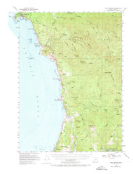 Port Orford, Oregon 1954 (1973) USGS Old Topo Map 15x15 OR Quad