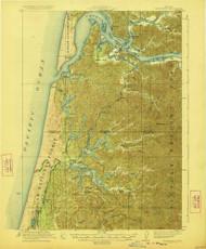 Reedsport, Oregon 1923 (1923) USGS Old Topo Map 15x15 OR Quad