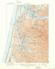 Reedsport, Oregon 1923 (1950) USGS Old Topo Map 15x15 OR Quad