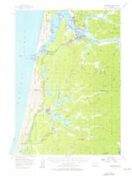 Reedsport, Oregon 1956 (1956) USGS Old Topo Map 15x15 OR Quad