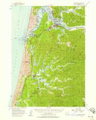Reedsport, Oregon 1956 (1958) USGS Old Topo Map 15x15 OR Quad