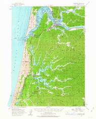Reedsport, Oregon 1956 (1963) USGS Old Topo Map 15x15 OR Quad