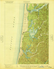 Siltcoos Lake, Oregon 1920 (1920) USGS Old Topo Map 15x15 OR Quad