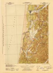 Siltcoos Lake, Oregon 1942 (1942) USGS Old Topo Map 15x15 OR Quad