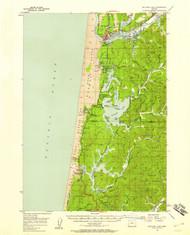 Siltcoos Lake, Oregon 1956 (1958) USGS Old Topo Map 15x15 OR Quad