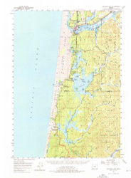 Siltcoos Lake, Oregon 1956 (1976) USGS Old Topo Map 15x15 OR Quad