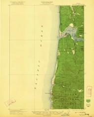 Waldport, Oregon 1922 (1922) USGS Old Topo Map 15x15 OR Quad