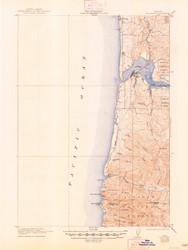 Waldport, Oregon 1922 (1948) USGS Old Topo Map 15x15 OR Quad