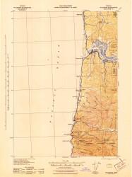 Waldport, Oregon 1942 (1942) USGS Old Topo Map 15x15 OR Quad