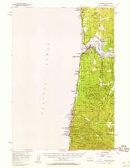 Waldport, Oregon 1956 (1958) USGS Old Topo Map 15x15 OR Quad