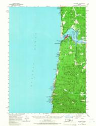 Waldport, Oregon 1956 (1966) USGS Old Topo Map 15x15 OR Quad
