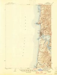 Yaquina, Oregon 1942 (1946) USGS Old Topo Map 15x15 OR Quad