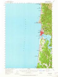 Yaquina, Oregon 1957 (1965) USGS Old Topo Map 15x15 OR Quad