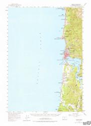 Yaquina, Oregon 1957 (1977b) USGS Old Topo Map 15x15 OR Quad