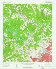 Adamsville, Alabama 1959 (1960) USGS Old Topo Map Reprint 7x7 AL Quad 303071