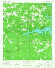Beulah, Alabama 1965 (1967) USGS Old Topo Map Reprint 7x7 AL Quad 303231