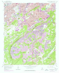 Birmingham South, Alabama 1959 (1978) USGS Old Topo Map Reprint 7x7 AL Quad 303255