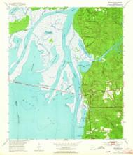 Bridgehead, Alabama 1953 (1964) USGS Old Topo Map Reprint 7x7 AL Quad 303324