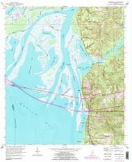 Bridgehead, Alabama 1953 (1983) USGS Old Topo Map Reprint 7x7 AL Quad 303329
