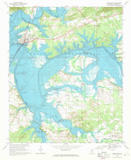 Cedar Bluff, Alabama 1967 (1969) USGS Old Topo Map Reprint 7x7 AL Quad 303432