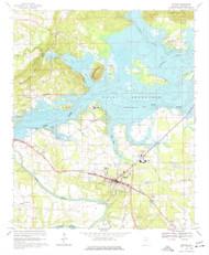 Centre, Alabama 1967 (1977) USGS Old Topo Map Reprint 7x7 AL Quad 303446