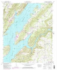 Columbus City, Alabama 1947 (1985) USGS Old Topo Map Reprint 7x7 AL Quad 303564
